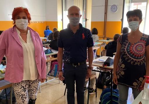 Venasca, anche il sindaco Dovetta a scuola