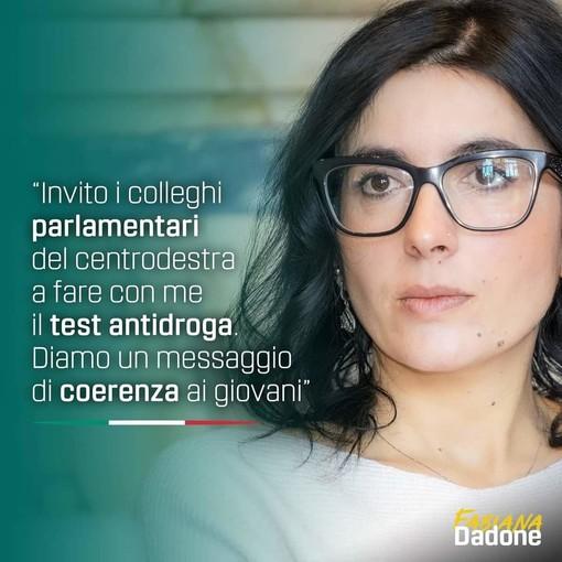 "Fabiana Dadone (5S): ""Facciamo un test antidroga a deputati e senatori"""