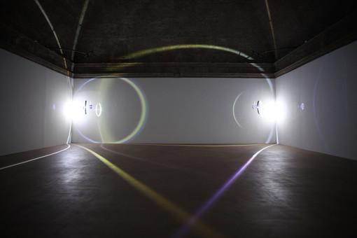A Cuneo in mostra quattro grandi installazioni sulla luce di Balla, Fontana, Eliasson e Leotta