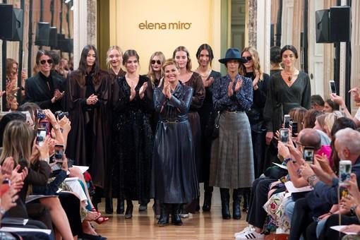 Vanessa Incontrada stilista per Miroglio Fashion: a Milano sfila la nuova collezione Elena Mirò