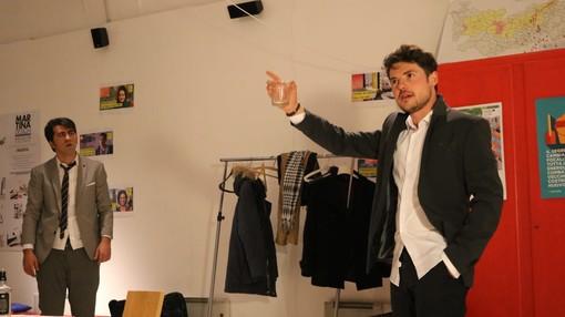 """Saluzzo, scene dallo spettacolo """"Emigranti"""""""