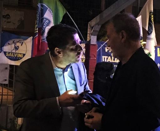 Sordella con Calderoli al comizio finale di Dario Tallone