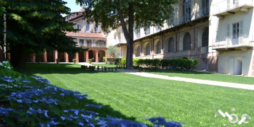 Saluzzo la sede della Fondazione Apm, vista dal giardino
