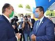 Il saluto tra il presidente Alberto Cirio e il governatore Diego Sinhue Rodrìguez Vallejo