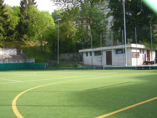 Il campo da calcetto in località Seggiovia
