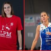 A sinistra Alessia Populini (foto Peirone); a destra Valentina Zago (foto sito Unionvolley Pinerolo)