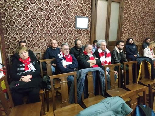 I tifosi del Cuneo presenti in consiglio comunale