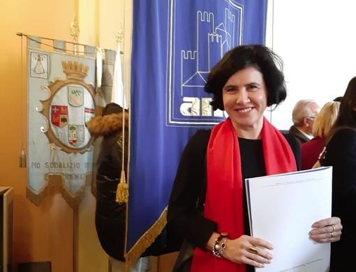 Il sindaco di Verduno Marta Giovannini all'assemblea Anci