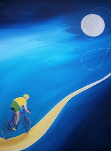 Addio al ciclista Felice Gimondi: l'omaggio a colori del pittore braidese Franco Gotta