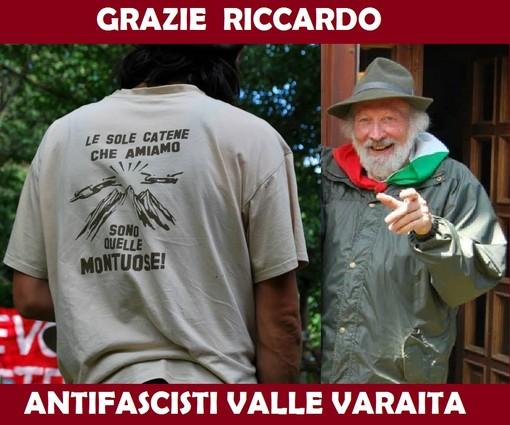 Se ne è andato Riccardo Assom, una delle più importanti voci dell'Antifascismo della Valle Varaita