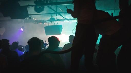 Una delle sale della discoteca Fortino