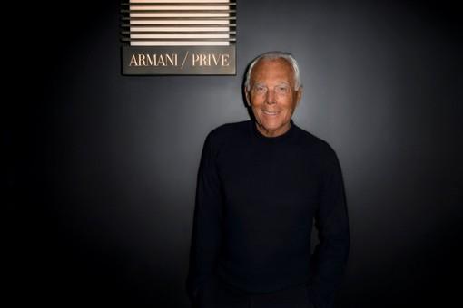 """Giorgio Armani (Foto tratta dalla pagina Facebook """"Giorgio Armani"""")"""