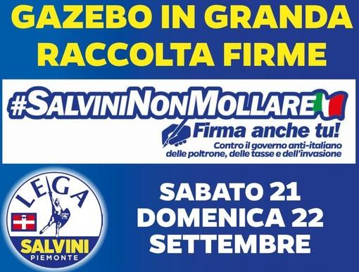 #Salvininonmollare: gazebo e presidi della Lega nelle piazze della Granda sabato e domenica