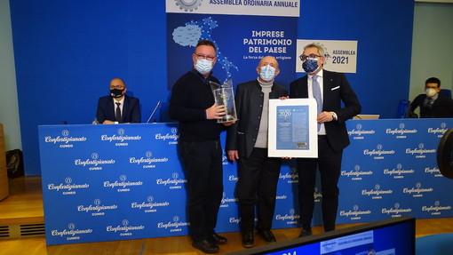 """Il premio """"Imprenditore dell'anno ARPROMA"""" è stato assegnato a Giacomino Fasano dell'azienda Fasano Group di Racconigi"""