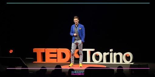 Giorgio Proglio, imprenditore e ideatore del progetto tabUi, sul palco torinese del TEDx