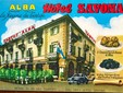 L'Hotel Savona di Alba in una cartolina degli anni '50 e '60