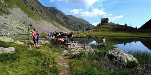 Forestali della Regione al lavoro in alta Valle Stura: sistemato l'itinerario che dal rifugio Migliorero conduce al passo Rostagno