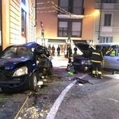 La scena dell'incidente di corso Coppino