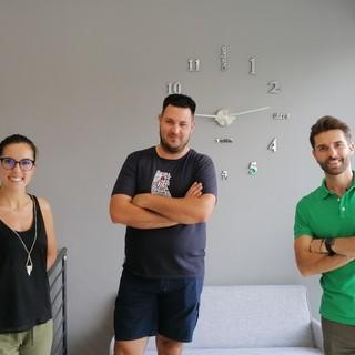 Lo staff della Keviaggi di Barge: Anna Bottero, Luca Pautassi e Mario De Grandis