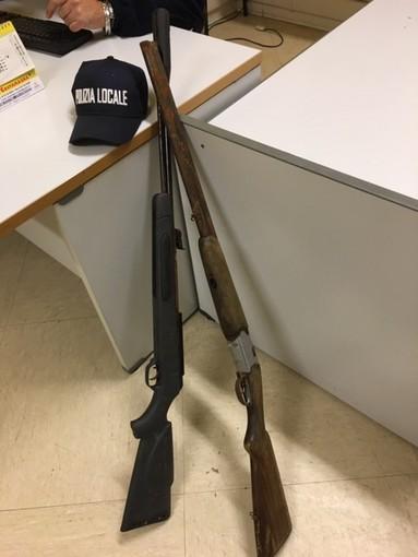 Rinvenuti dalla Polizia Locale di Fossano due fucili rubati