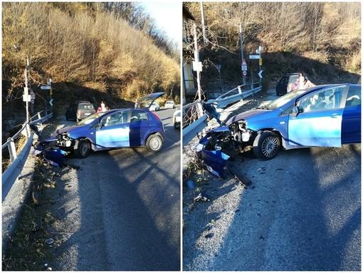 Frabosa Sottana, auto contro guardrail: incidente in frazione Alma Ressia