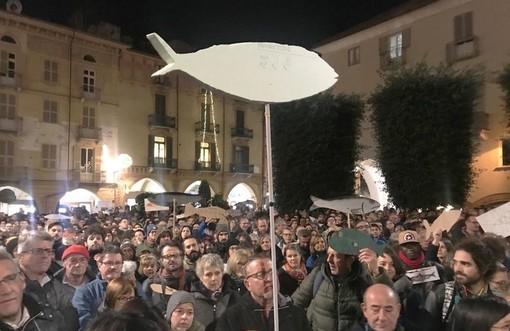 """Cuneo: la manifestazione delle """"Sardine"""" dello scorso 30 novembre"""