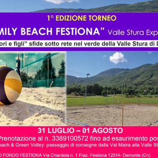 26 squadre di genitori e figli si sfideranno al torneo di beach volley del Festiona Family Beach