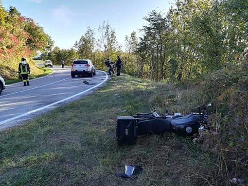 Incidente in moto (foto archivio Provincia)