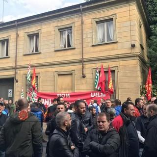 Un presidio di protesta dei lavoratori (foto repertorio)
