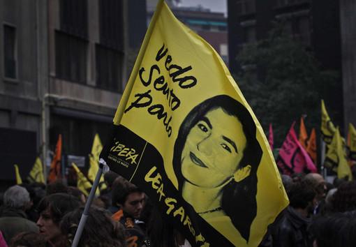 La manifestazione per l'ultimo saluto a Lea Garofalo