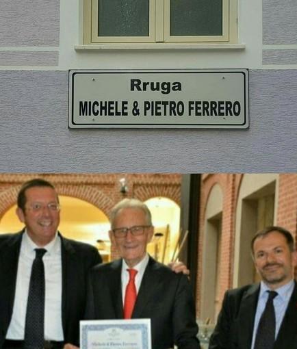 Michele & Pietro Ferrero, in Albania è conto alla rovescia per la storica Via a loro dedicata