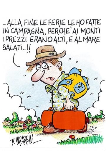 La fine delle vacanze estive secondo il vignettista Danilo Paparelli