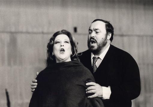 Il soprano Luciana Serra con Pavarotti, anno 1983