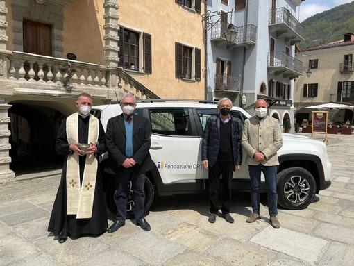 Da sinistra, don Elio Dotto, Maurizio Brielli, Giovanni Quaglia e Massimo Riberi