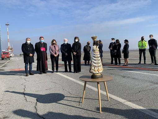 Arrivata a Levaldigi la Madonna di Loreto, proveniente da Genova prossima settimana sarà a Caselle