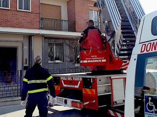 L'intervento dei Vigili del fuoco a Moretta