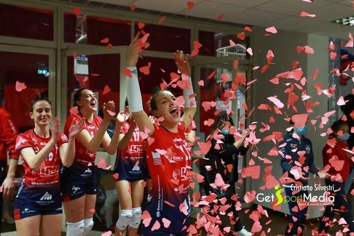 Martina Bordignon festeggia l'accesso in finale di Coppa Italia (foto Cristiano Silvestri)