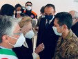 Il generale Figliuolo accolto da Maria Franca Ferrero