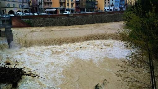 Mondovì: fiume Ellero in piena (immagine di repertorio)