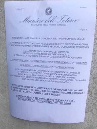 Falsi volantini Ministero dell'Interno: segnalazioni anche da Alba e Saluzzo