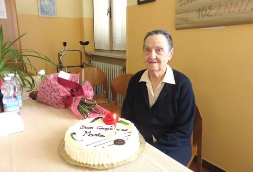 Cherasco festeggia Maria Tuninetti: 102 anni con il sorriso