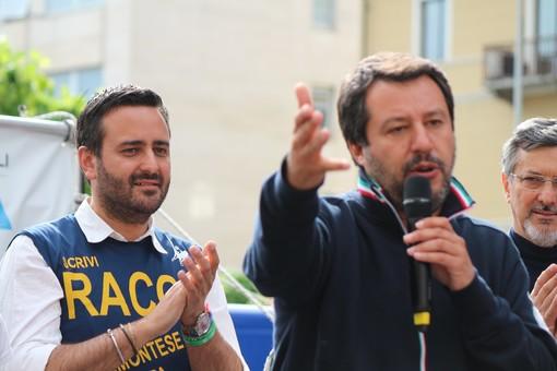 Marco Racca con Matteo Salvini