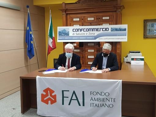 Marco Piccat ( capo delegazione FAI Saluzzo e Danilo Rinaudo presidente Ascom Saluzzo e Zona