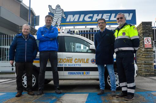 Pneumatici Michelin in dono alla Protezione Civile di Nucetto