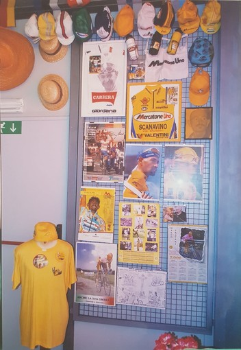 Lo spazio dedicato a Marco Pantani al Museo della Bicicletta di Bra