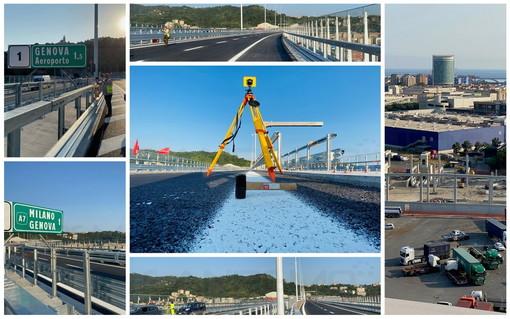 Un 'giro' sul nuovo ponte San Giorgio a Genova: ricordando le vittime lunedì l'inaugurazione (Foto e Video)