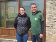 Il gestore Nadia Odenato con il presidente di Proteo Fabrizio Clerico