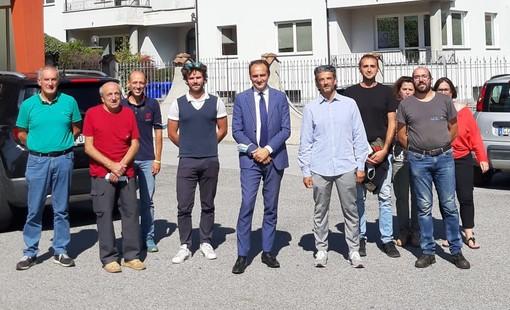 La visita del presidente Cirio a Nucetto