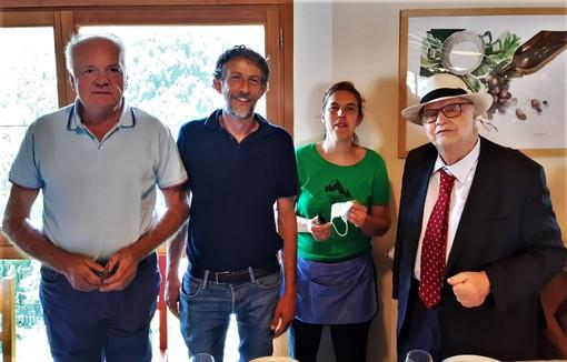 Da sinistra, Lombardo, Colombero, Rovere e Riba
