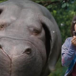 """Il """"supermaiale"""" Okja e la protagonista del film"""